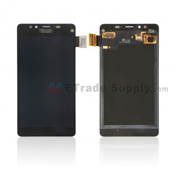 For Microsoft Lumia 950 LCD Screen and Digitizer Assembly Replacement - Black - Microsoft Logo - Grade S+ (0)