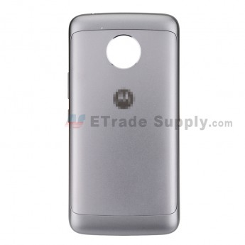 For Motorola Moto E4 Plus Battery Door Replacement - Gray - With Moto Logo - Grade S+ (0)