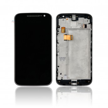 For Motorola Moto G4 LCD Screen and Digitizer Assembly with Front Housing Replacement - Black - Without Any Logo - Grade S+ (0)