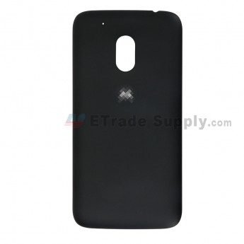 For Motorola Moto G4 Play Battery Door Replacement - Black - With Logo - Grade S+ (0)