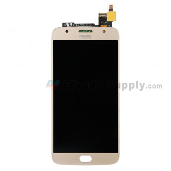 For Motorola Moto G5 S Plus XT1805 LCD Screen and Digitizer Assembly Replacement - Gold - With Moto Logo - Grade S+ (0)