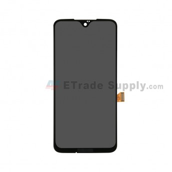For Motorola Moto G7 Plus LCD Screen and Digitizer Assembly Replacement - Black - With Logo - Grade S+ (0)