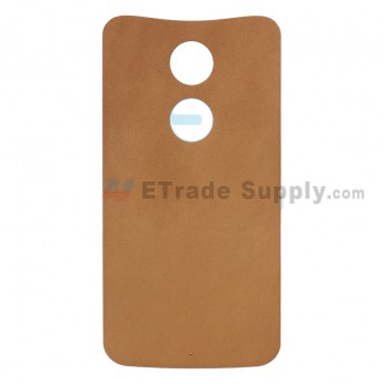 For Motorola Moto X (2nd Gen) XT1095/XT1097 Battery Door Replacement - Brown - Without Any Logo - Grade S+ (0)