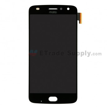 For Motorola Moto Z2 Play LCD Screen and Digitizer Assembly Replacement - Black - With Logo - Grade S+ (0)