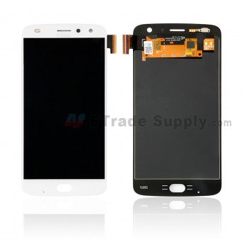 For Motorola Moto Z2 Play LCD Screen and Digitizer Assembly Replacement - White - With Logo - Grade S+ (0)