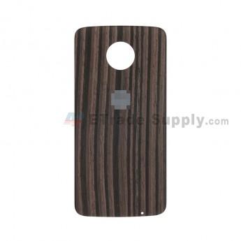 For Motorola Moto Z XT1650 Battery Door Replacement - Ebony - With Logo - Grade S+ (2)