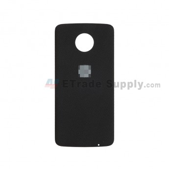 For Motorola Moto Z XT1650 Battery Door Replacement - Nylon Black - With Logo - Grade S+ (1)