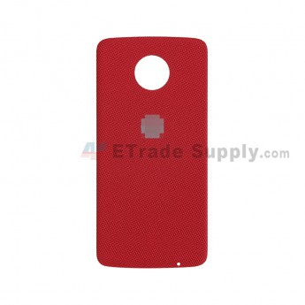 For Motorola Moto Z XT1650 Battery Door Replacement - Nylon Red - With Logo - Grade S+ (2)