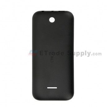 For Nokia 225 Battery Door Replacement - Black - With Logo - Grade R (0)