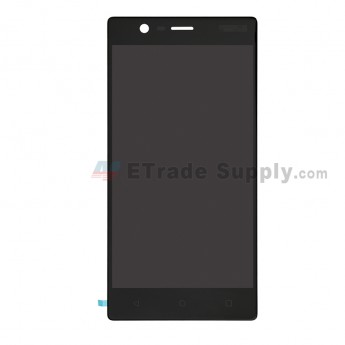 For Nokia 3 LCD Screen and Digitizer Assembly Replacement - Black - With Logo - Grade S+ (0)