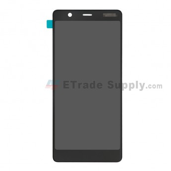 For Nokia 5.1 LCD Screen and Digitizer Assembly Replacement - Black - With Logo - Grade S+ (0)