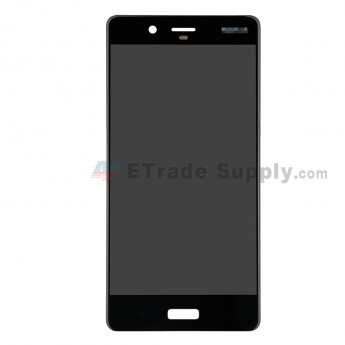 For Nokia 8 LCD Screen and Digitizer Assembly Replacement - Black - With Logo - Grade S+ (0)
