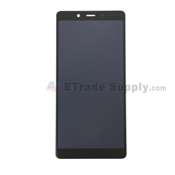 For Nokia C1 LCD Screen and Digitizer Assembly Replacement - Black - With Logo - Grade S+ (0)