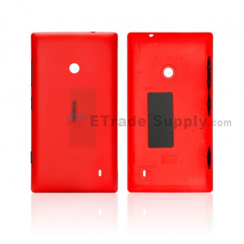 For Nokia Lumia 520 Battery Door Replacement - Red - Grade S+ (0)