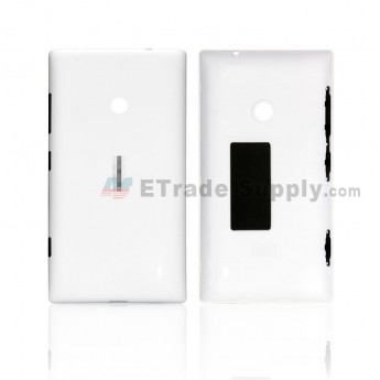 For Nokia Lumia 520 Battery Door Replacement - White - Grade S+ (0)