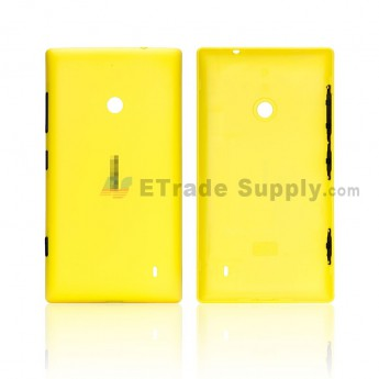 For Nokia Lumia 520 Battery Door Replacement - Yellow - Grade S+ (0)