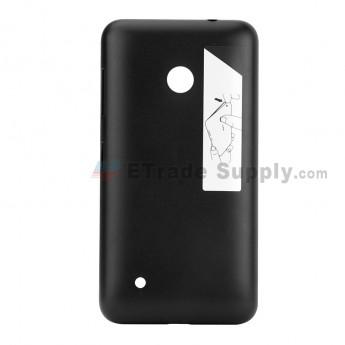 For Nokia Lumia 530 Battery Door Replacement - Black - Nokia Logo - Grade S+ (0)