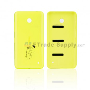 For Nokia Lumia 635 Battery Door Replacement - Yellow - With NK Logo - Grade S+ (0)
