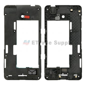 For Nokia Lumia 635 Middle Plate Replacement - Black - Grade S+ (0)