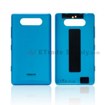 For Nokia Lumia 820 Battery Door Replacement - Blue - Grade S+ (0)