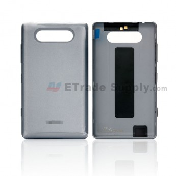 For Nokia Lumia 820 Battery Door Replacement - Gray - Grade S+ (0)