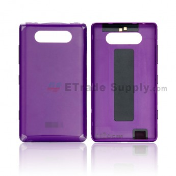 For Nokia Lumia 820 Battery Door Replacement - Purple - Grade S+ (0)