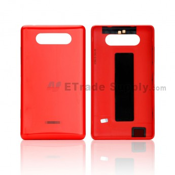 For Nokia Lumia 820 Battery Door Replacement - Red - Grade S+ (0)