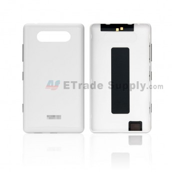 For Nokia Lumia 820 Battery Door Replacement - White - Grade S+ (0)