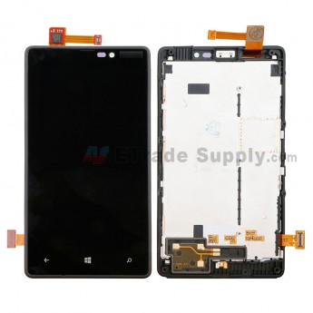 For Nokia Lumia 820 LCD Screen and Digitizer Assembly with Front Housing Replacement - With Nokia Logo - Grade S+ (0)