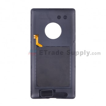 For Nokia Lumia 830 Battery Door with Wireless Charging Coil Replacement - Black - With Nokia Logo - Grade S+ (5)