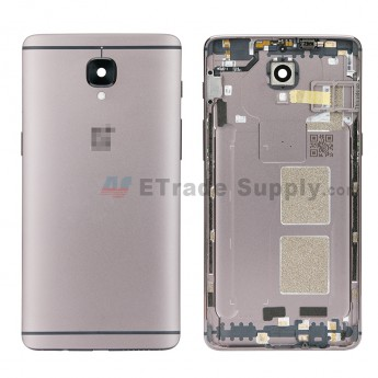 For OnePlus 3T Battery Door Replacement - Gray - Grade S+ (0)