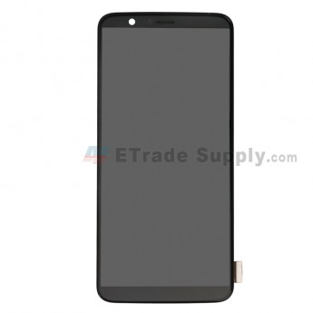 For OnePlus 5T LCD Screen and Digitizer Assembly with Front Housing Replacement - Black - Without Logo - Grade S+ (0)