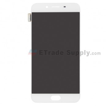 For Oppo R9s LCD Screen and Digitizer Assembly Replacement - White - Without Logo - Grade S+ (0)