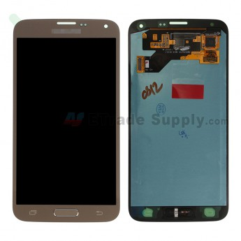 For SM Galaxy S5 Neo G903F LCD Screen and Digitizer Assembly Replacement - Gold - SM Logo - Grade S+ (0)