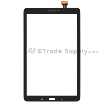For SM Galaxy Tab E 9.6 T560 Digitizer Touch Screen Replacement - Black - SM Logo - Grade S+ (0)