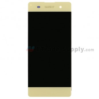 For SN Xperia XA LCD Screen and Digitizer Assembly Replacement - Lime Gold - SN Logo - Grade S+ (0)