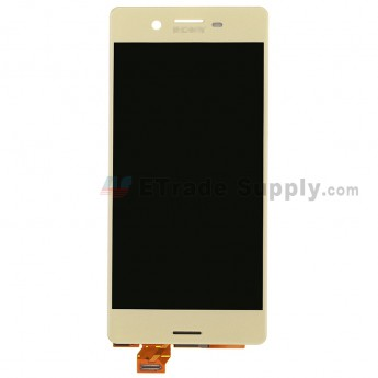 For SN Xperia X LCD Screen and Digitizer Assembly Replacement - Lime Gold - SN Logo - Grade S+ (0)