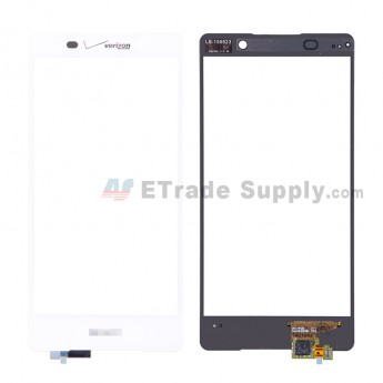 For SN Xperia Z3+ Digitizer Touch Screen Replacement - White - SN and Verizon Logo - Grade S+ (6)