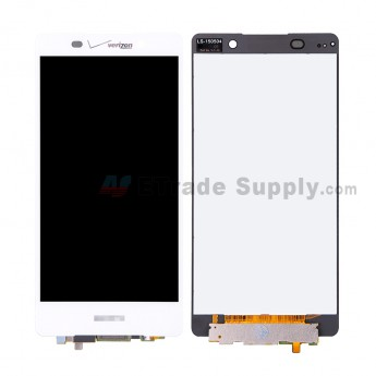 For SN Xperia Z3+ LCD Screen and Digitizer Assembly Replacement - White - SN and Verizon Logo - Grade S+ (0)
