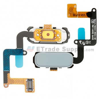 For Samsung Galaxy A3/A5/A7(2017) Home Button With Flex Cable Ribbon Replacement - Blue - Grade S+ (0)