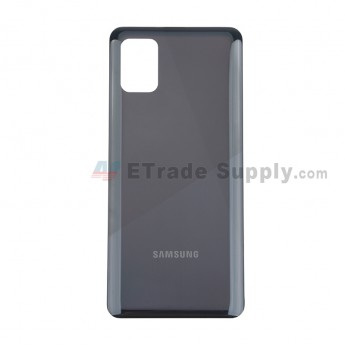 For Samsung Galaxy A31/A315 Battery Door Replacement - Black - With Logo - Grade S+ (0)