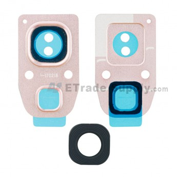 For Samsung Galaxy A3 2017 SM-A320 / SM-A520 / SM-A720 Rear Facing Camera Lens and Bezel - Pink - Grade S+ (0)