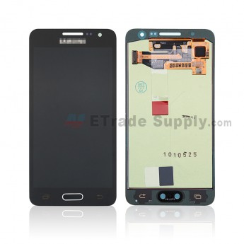 For Samsung Galaxy A3 SM-A300 LCD Screen and Digitizer Assembly Replacement - Black - With Logo - Grade S+ (0)