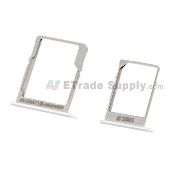 For Samsung Galaxy A5 SM-A500 SIM Card Tray Set Replacement (Micro-SIM Card + Nano-SIM Card) - Silver - Grade S+ (4)