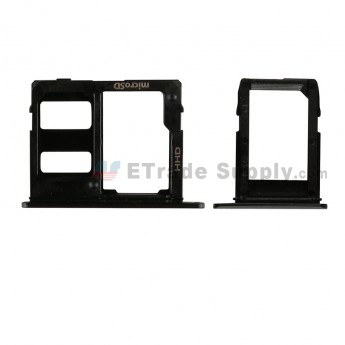 For Samsung Galaxy A6 (2018)/A6+ (2018) SIM Card Tray Replacement (2pcs/set) - Black - Grade S+ (0)