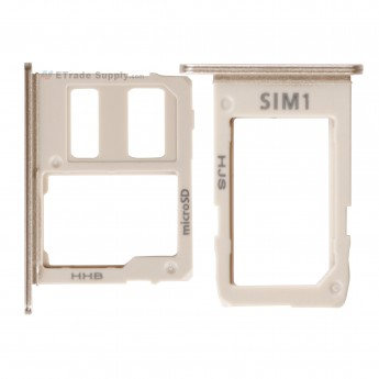 For Samsung Galaxy A6 (2018)/A6+ (2018) SIM Card Tray Replacement (2pcs/set) - Gold - Grade S+ (0)