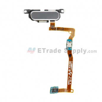 For Samsung Galaxy Alpha SM-G850F Home Button With Flex Cable Ribbon Replacement - Black - Grade S+ (0)