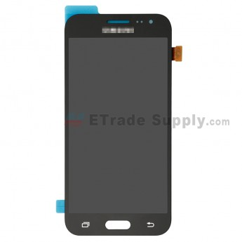 For Samsung Galaxy J2 SM-J200F LCD Screen and Digitizer Assembly Replacement - Black - With Logo - Grade S+ (0)