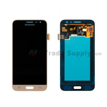 For Samsung Galaxy J3 (2016) SM-J320F LCD Screen and Digitizer Assembly Replacement - Gold - With Logo - Grade S+ (0)