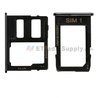 For Samsung Galaxy J4+/J6+ 2018 SIM Card Tray Replacement (2pcs/set) - Black - Grade S+ (0)